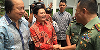 Gu Shaoming the Chairman of the Board of Directors Attended the Turning-Over Ceremony for Environmental-Protection and Energy-Saving Houses of Headquarters of Indonesian National Army